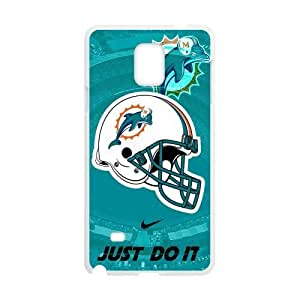 Nike Just Do It Blue Miami Dolphins Logo Case for SamSung Galaxy Note4 (Laser Technology)