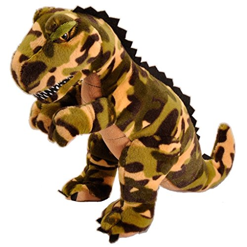 Camo T-Rex 11 inch - Stuffed Animal by The Petting Zoo (4...
