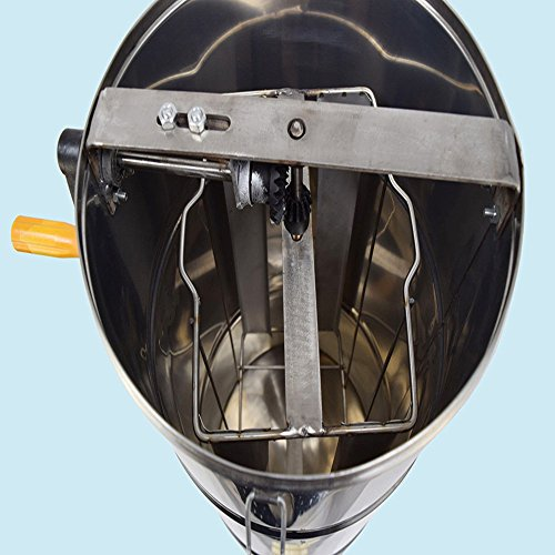 Funwill Shipping from USA Two 2 Frame Stainless Steel Bee Honey Extractor Honeycomb Drum Fits Shallow, Mdium and Deep Frames Tank Warm Soapy Water Equipment Machine Set by Funwill (Image #2)