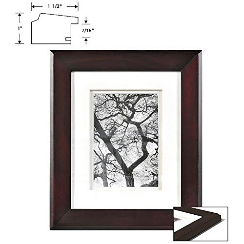 CHELSEA Chestnut Wood 16x20/11x14 Dbl-matted frame from ARTCARE by Nielsen - 11x14