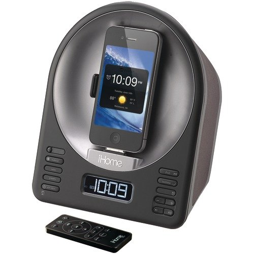 Ipod Touch Alarm Clock (iHome iA63 App-Enhanced 30-Pin iPod/iPhone Alarm Clock Speaker Dock)
