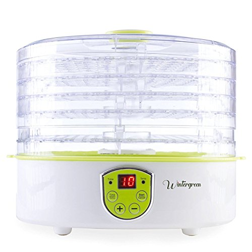 Food Dehydrator Machine by Wintergreen BPA Free Snackmaster for Beef Jerky Preserving Wild Food and Fruit Vegetable Dryer in Home Kitchen