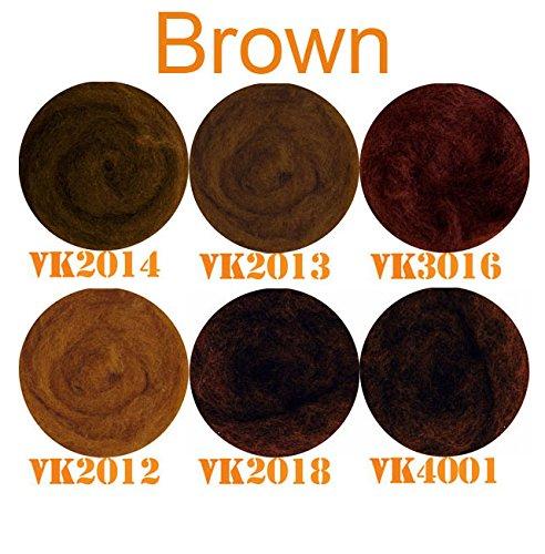 SIA COLLA-S Infeltrimento mix colorato mescolato sentiva al 100/% Lana Marrone sfumature Mix 50 g totale Almeno 5 diversi colori
