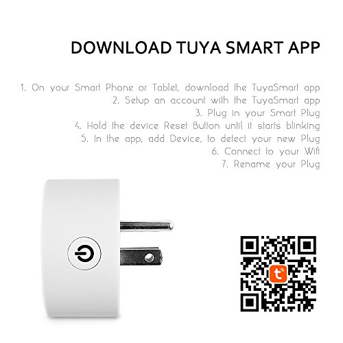 Wifi Smart Plug Wireless Outlet No Hub Required Smart Timing Socket,  Wireless Remote Control Your Devices Work with Alexa by POWERILLEX
