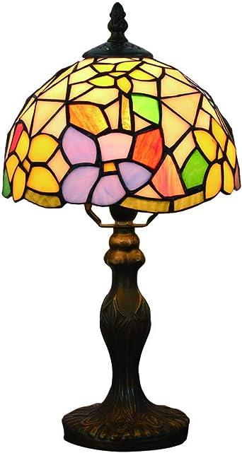 Lámparas de mesa Tiffany, (8 pulgadas) Pantalla de cristal retro ...