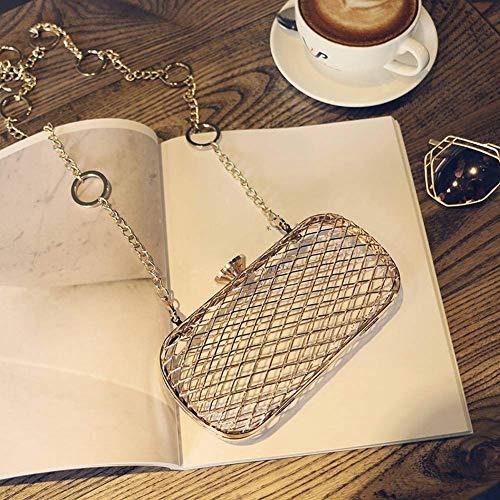 maat kleur Hol goud Metallic Mesh Damesnachttas Clutch zoals Vogelnest Schuine Bag diagonaal afgebeeld Oqx7wxCZz