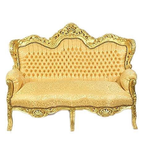 Casa Padrino Barock 2 Er Sofa King Gold Muster Gold Barock Mobel