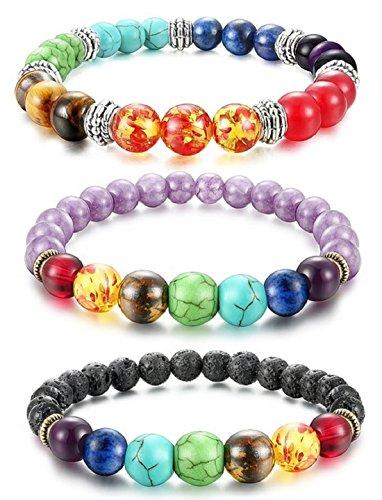 Dhnewsun Chakra Bracelet Healing Gemstone