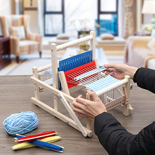 Lavievert Wooden Multi-Craft Weaving Loom DIY Hand-Knitting Weaving Machine Intellectual Toys for Kids by Lavievert (Image #5)