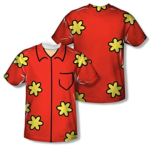 Family Guy Quagmire Costumes Tshirt (Youth: Family Guy - Quagmire Costume Tee (Front/Back Print) Kids T-Shirt Size YL)