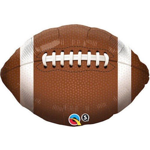 36 Inch Football Mylar Balloon - Huge 3 Foot Mylar - Football Mylar Balloon