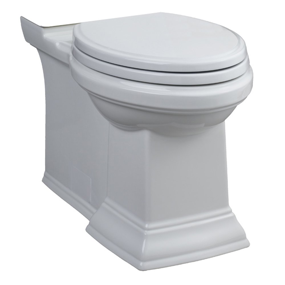 American Standard 3071.000.020 Town Square Right Height Elongated Bowl with Concealed Trapway, White