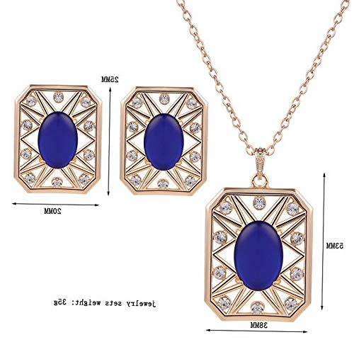 Endicot Sale Fashion Lady Women Jewelry Set Necklace Earrings Zircon Square Jewelry Set | Model ERRNGS - 4091 |