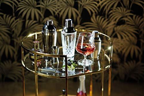 KitchenCraft Bar Craft Kristallglas Cocktail Shaker mit Edelstahl # Sieb, 400ml (14FL OZ)–Klar