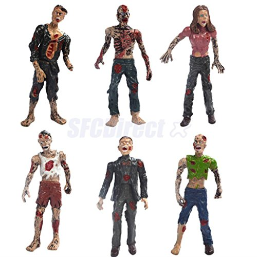 Shalleen Set of 6 Walking Corpses Doll Figures Movie Characters Kids Toy Collectibles (Slinky Dog Toy Story Costume)