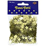 Beistle 50621-GD Fanci-Fetti Stars Party Decorations