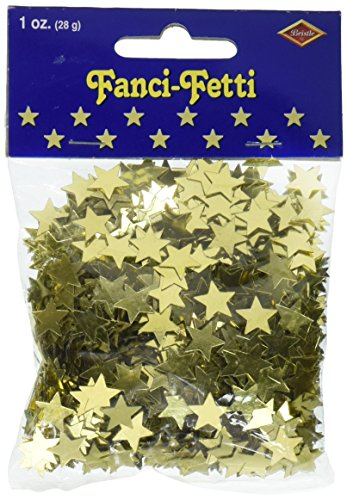- Fanci-Fetti Stars (gold) Party Accessory  (1 count) (1 Oz/Pkg)