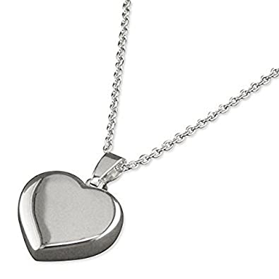 jewellery memorial pendant keepsake necklace flat product heart fingerprint silver