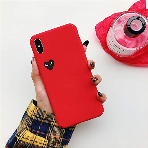 Japan CDG Play Comme des Garcons IMD Protect Cover case for iPhone Plus 7 7plus 8 8plus X XR XS Max Phone Cases (Red, iPhone 7/8+)