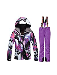 GSOU SNOW Women's Winter Ski Jacket Snowboard Waterproof Windproof Ski Suits