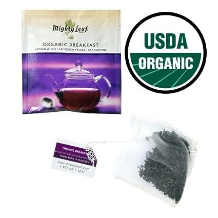 Bolsas de té taza de desayuno, 15 orgánico por Mighty Leaf ...