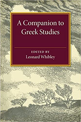 A companion to Greek studies by Leonard Whibley cover