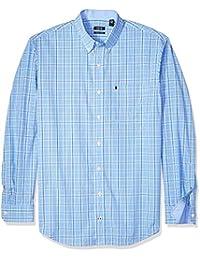 Men's Premium Essential Check Long Sleeve Shirt (Big Tall...