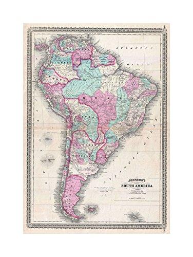 0 Johnson South America Vintage Print F12X2041 ()