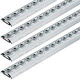 Blindnieten 3,2x4 Alu-Stahl DIN 7337 mit Flachkopf und Sollbruchdorn Form A St/ückzahl 100 Popnieten Flachkopf Nieten