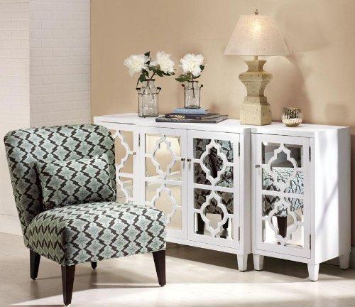 Charmant Amazon.com: Reflections Mirrored Three Piece Cabinet Set, 3 PIECE SET,  WHITE: Kitchen U0026 Dining