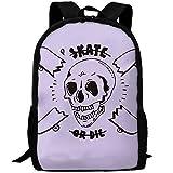OIlXKV Peaked Skate Or Die Print Custom Casual School Bag Backpack Multipurpose Travel Daypack For Adult