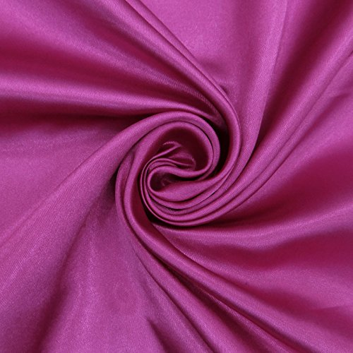 Faux Satin Silk Fabric Shiny Solid Purple Dressmaking Fabrics Sewing By The Yard - Purple Silk Fabric