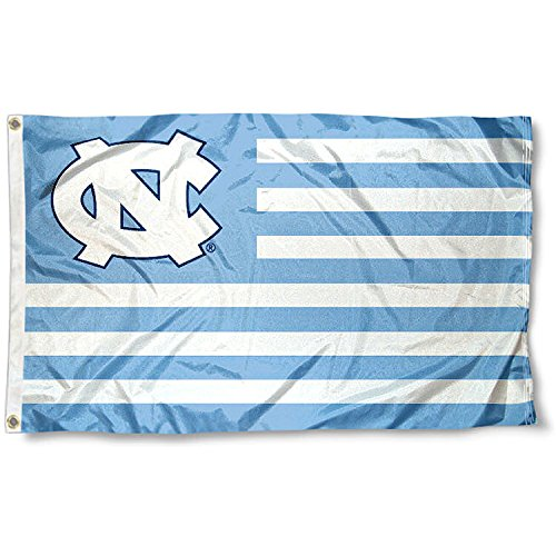 UNC Tar Heels Alumni Nation Stripes Flag (Unc Tar Heels Wall)