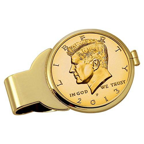 Smithsonian Institution Gold-Layered JFK Half Dollar Goldtone Coin Money (Gold Tone Museum)