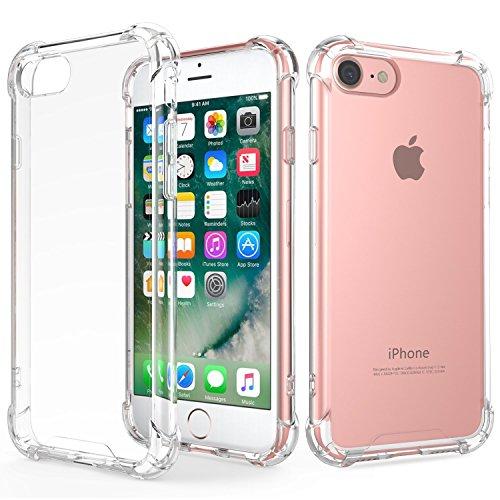 スマホケース iPhone8 ケース / iPhone7 ケース 高品質 TPU 透明 ソフト クリア ケース ストラップ ホール 付き カバー 4.7インチ (クリア)