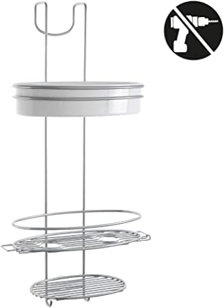 Metaltex Orbit Jabonera mampara, Chrometherm, Plata y Blanco: Amazon.es: Hogar