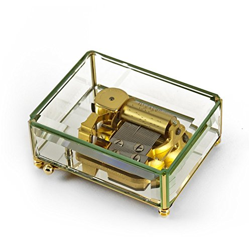 Stunning 30 Note Beveled Glass with Mirrored Base Crystal Music Box - Tennessee Waltz by MusicBoxAttic