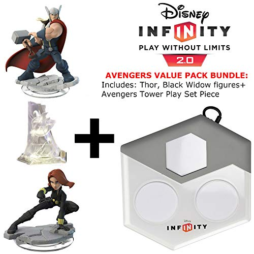 (Disney Infinity: Marvel Superheroes (Xbox 360) (2.0 Edition) The Avengers Value Pack: Thor and Black Widow Figures, Avenger's Tower Set Piece, and Disney Infinity Portal Base)