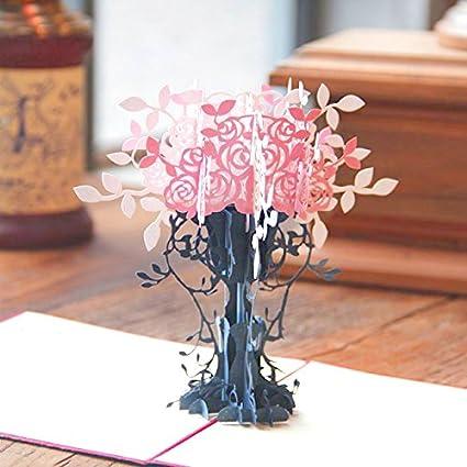 Amazon loyocgo handmade 3d flower pop up greeting card thank loyocgo handmade 3d flower pop up greeting card thank you happy birthday to him her mom m4hsunfo