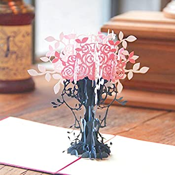 Amazon loyocgo handmade 3d flower pop up greeting card thank loyocgo handmade 3d flower pop up greeting card thank you happy birthday to him her mom m4hsunfo Image collections