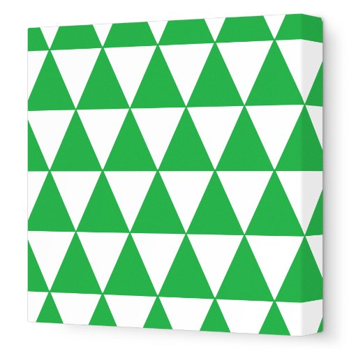 Avalisa Stretched Canvas Nursery Wall Art, Pattern 230, Green, 12