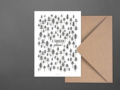 Weihnachtskarte / Ä Tännschen