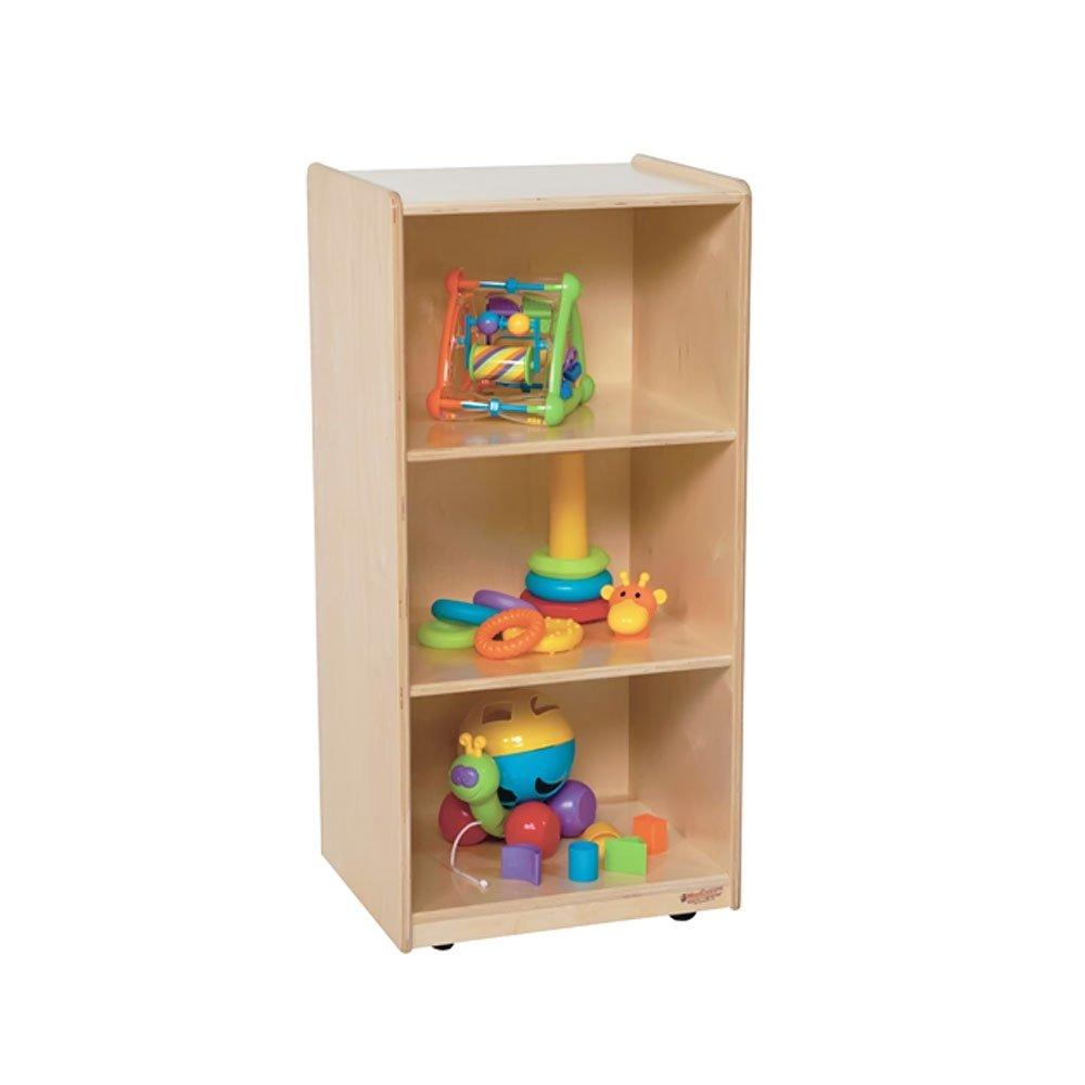 Wood Designs Kids Play Toy Book Plywood Organizer Wd157003 Mobile Mini Bookshelf Shelf Unit