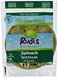 Rudis Gluten Free Bakery Rudi Tortillas Spinach Gf 9 Oz, Pack of 24