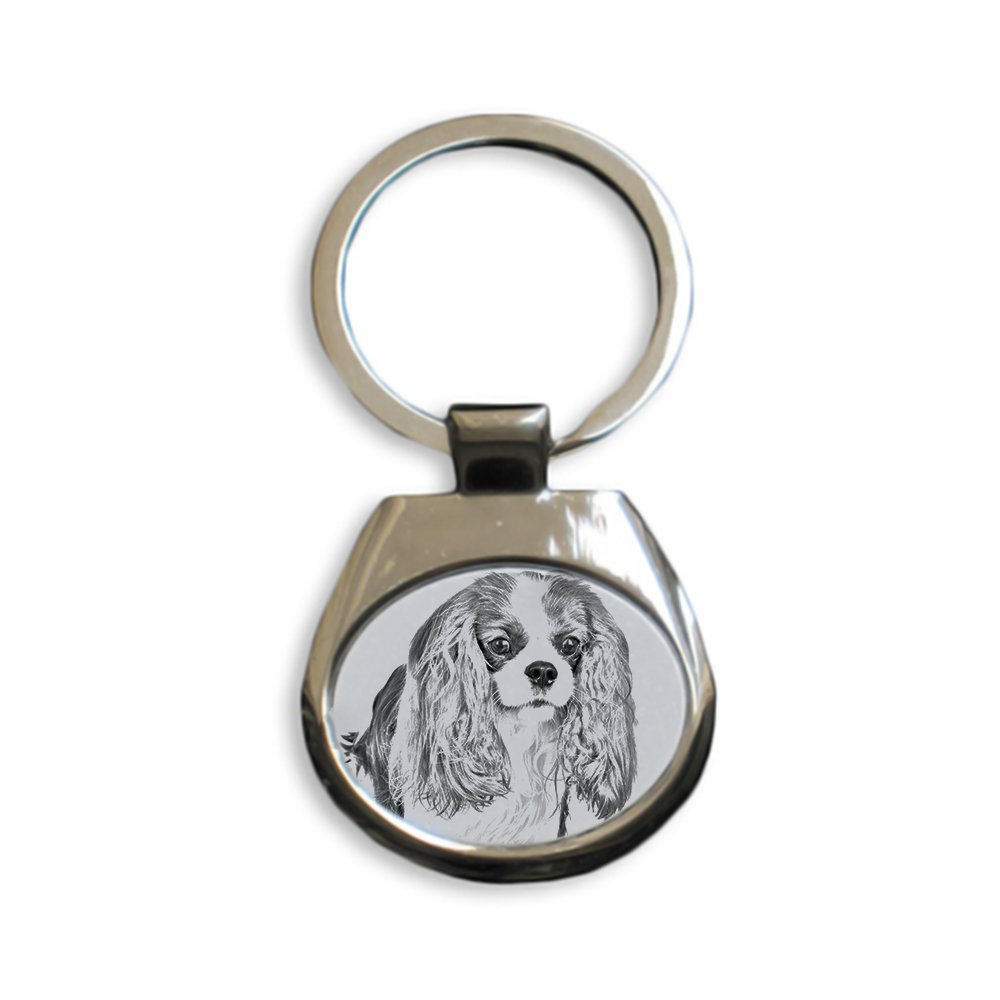 Cavalier Art Dog Ltd Sublimation Unique Gift New keyrings with Purebred Dogs