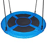 HYCLAT 40'' Saucer Tree Swing Durable Strong Blue Large Size Wed Swing Activity One Completed Set