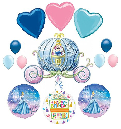 Mayflower Products Cinderella Birthday Party Supplies Carriage Balloon Bouquet Decorations.