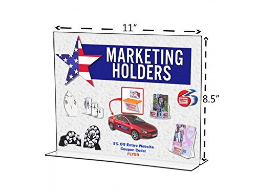 deflecto 69201 Classic Image Stand-Up Double-Sided Sign Holder, Plastic Insert, Clear 11
