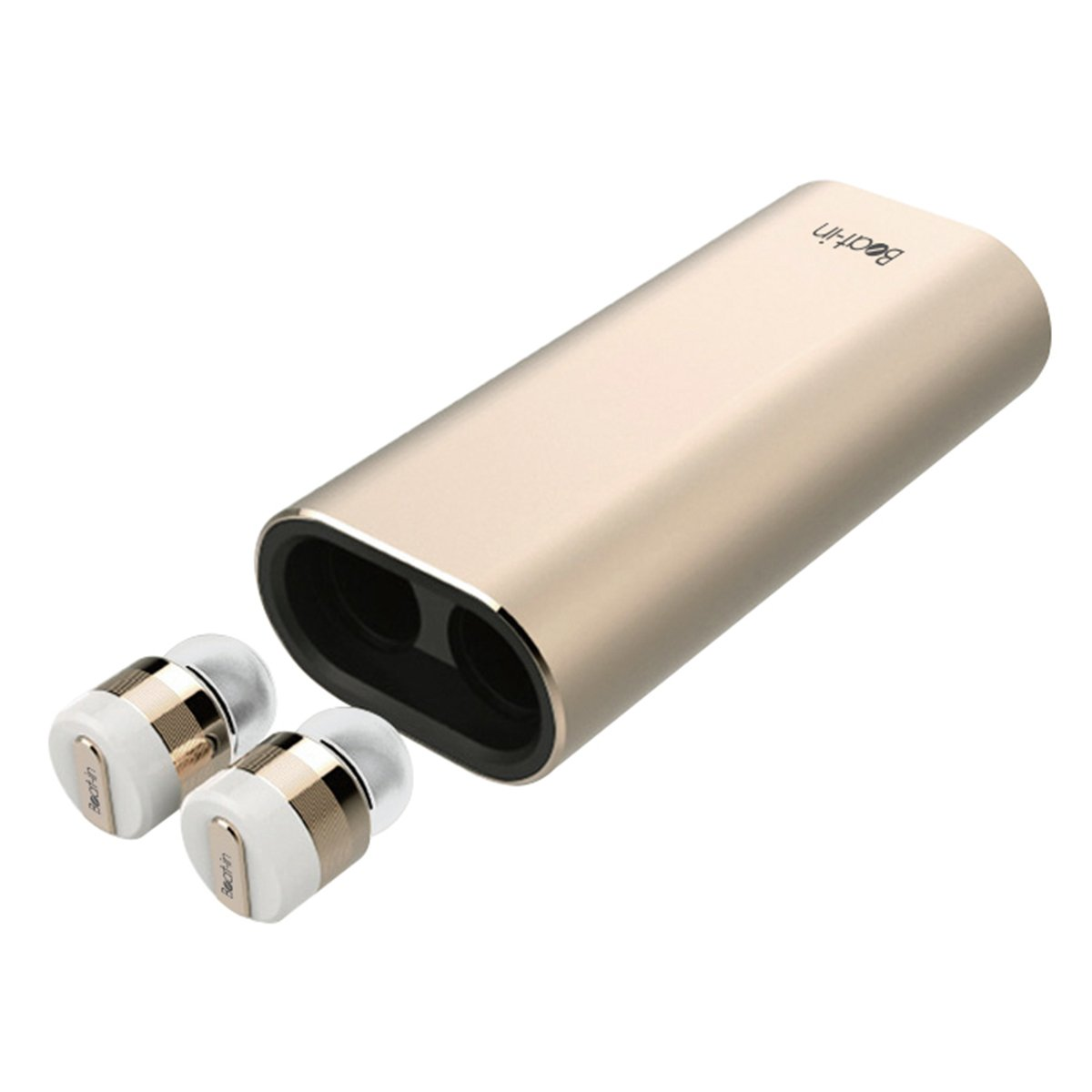Beat-in Wireless Earphone Power Bank Bluetooth 4.1 compatible Left and right complete independent type BI9315 (Gold)