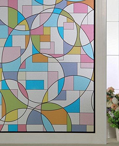 ABO Non-colle non-adhésif givré 3D statique décoratif confidentialité fenêtre Film 90*200CM, AW1007-2
